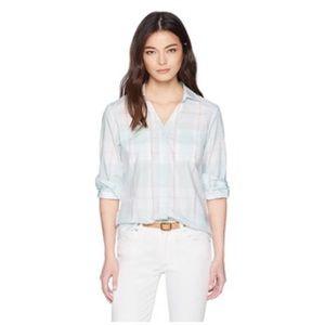 4/$20🍄 Pendleton Rockaway Check Shirt Pastel Blue